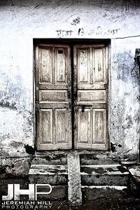 """Doors"", Rishikesh, Uttaranchal, India, 2007 Print IND3725-063"