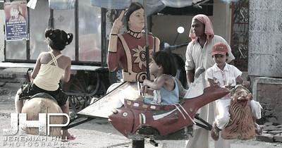 """""""Hand-Powered Merri-Go-Round"""", Rishikesh, Uttaranchal, India,2007 Print IND3627-324V2"""