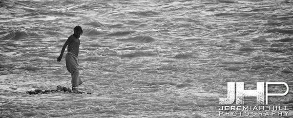 """In The Rapid Waters Of The Ganga"", Rishikesh, Uttaranchal, India, 2007 Print IND373-299"