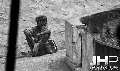 """Baba In The Black"", Rishikesh, Uttaranchal, India, 2007 Print IND3627-510"
