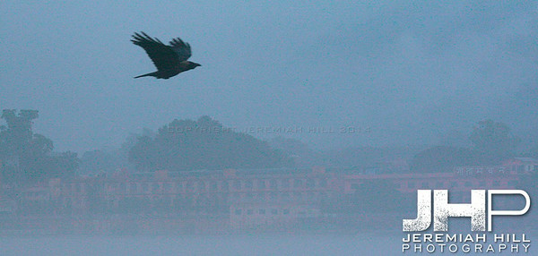 """Morning Monsoon On The Ganga"", Rishikesh, Uttaranchal, India, 2007 Print IND3734-013V2"
