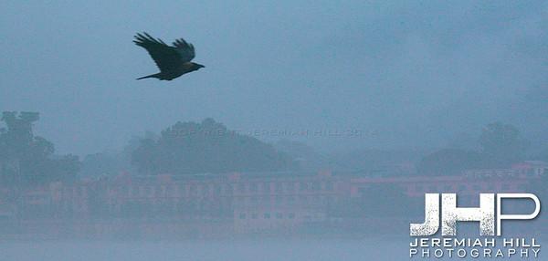 """Morning Monsoon On The Ganga"", Rishikesh, Uttaranchal, India, 2007 Print IND3734-013V2"