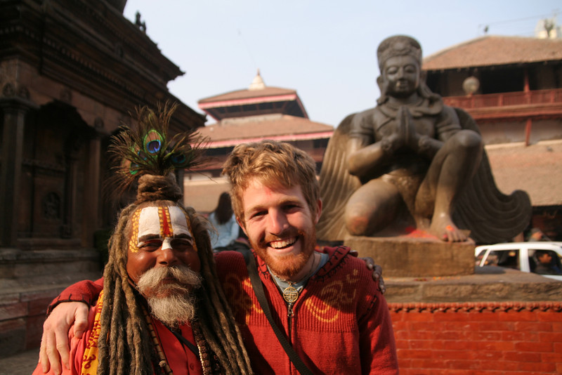 Me and a Hindu Sadu in Katmandu.  Any relation?