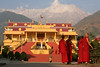 The temple of the Karmapa, one of the most holy Lamas in Tibetan Buddhism.  Gopi and I went to meet the Karmapa during one of his weekly public teachings, but because of a schedule change we only were able to see him walk by us.  Him and I are the same age, 25, but I would venture to guess that we live very very different lives.  I mean he's on his 17th reincarnation.
