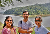 Mom, dad and Sister in front of the Thekkadi lake. It is in the border of Tamil Nadu and Kerala. A popular destination for foreign tourists. You can take a boat ride and see animals. It looks like there are a number of elephants even though we didn't see any.