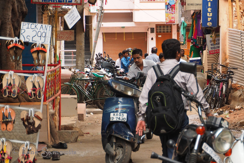 Another scene from Commercial Street in Bangalore.