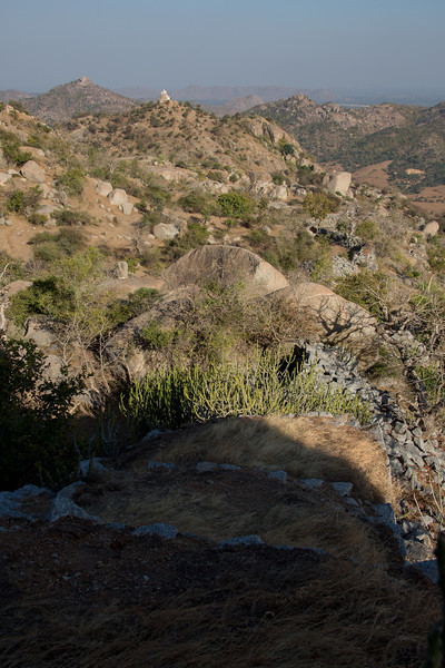 Fourth Century defensive wall on mountain top, near Jain Derasar (Temple) at  Taranga, North Gujarat.
