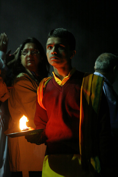 Puja with fire on the Ganga.