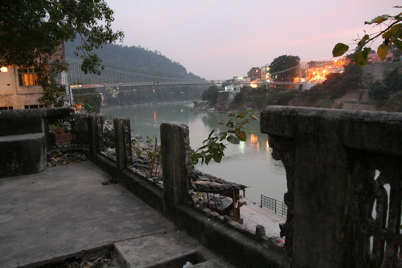 A Ganga-side park in Rishikesh, the point where the Ganga exits the Himalayas.