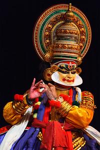 Kathakali dance. Bhava Bhavanam Festival. September 2009. Chennai, India