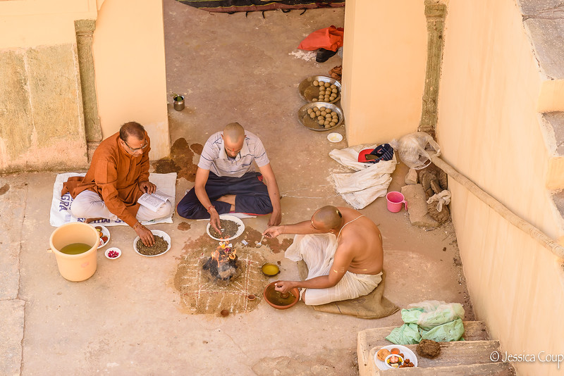 Religious Ceremony at the Stepwell