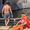 Getting Ready to Jump into the Cold Water at Monkey Temple