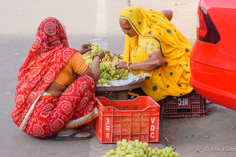 Selling Grapes on the Street