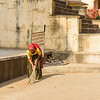 Sweeping at Monkey Temple