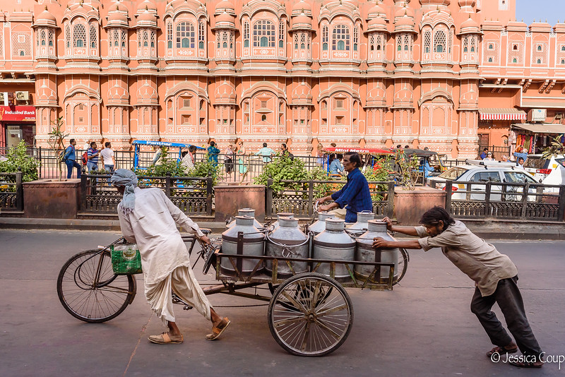 Pushing Past the Hawa Mahal