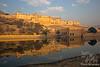 Amber Fort reflecting in Maota Lake ~ outside Jaipur