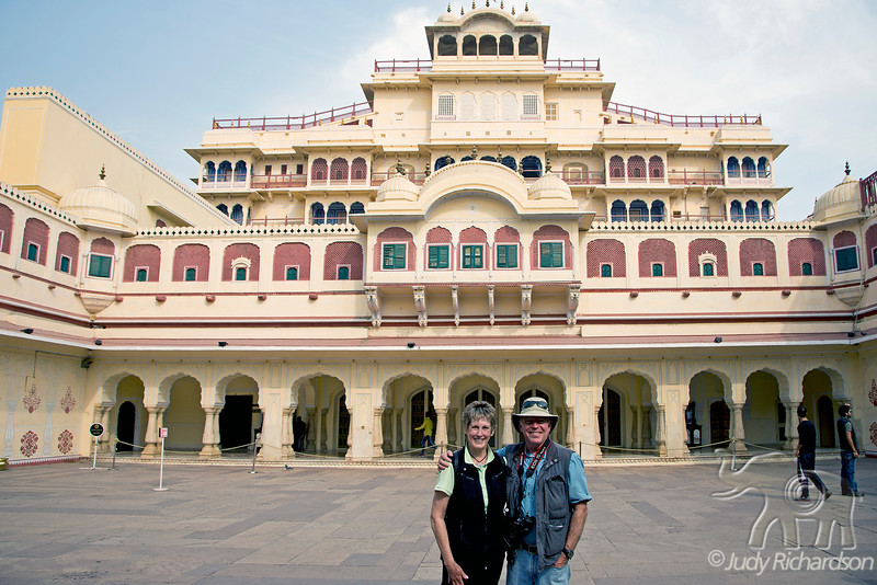 Judy & Alan at Jaipur City Palace, Jaipur, India