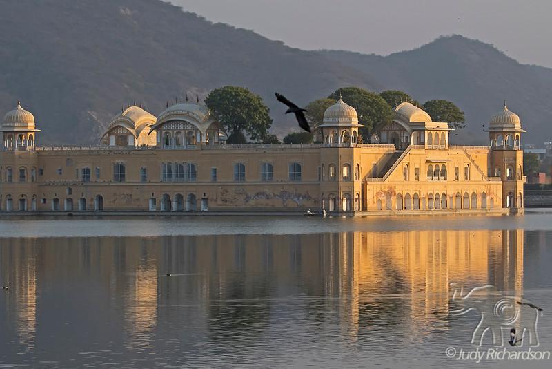 Jal Mahal with reflection in Lake Sagar, Jaipur