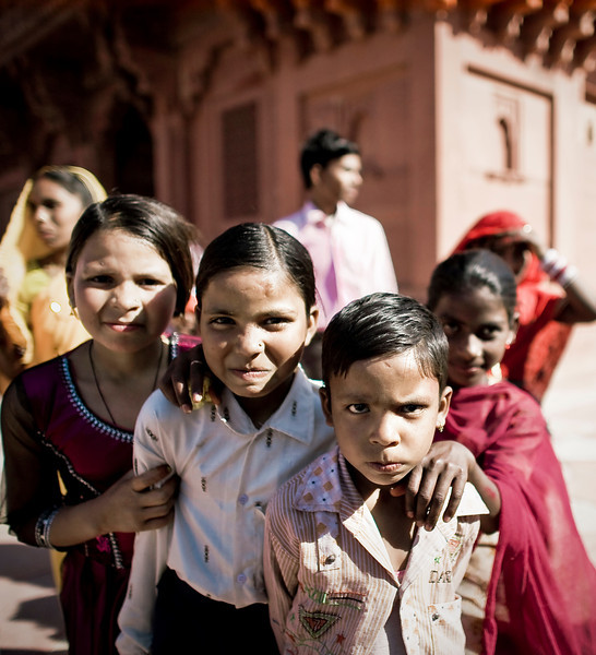 Siblings, Fatehpur Sikri, India