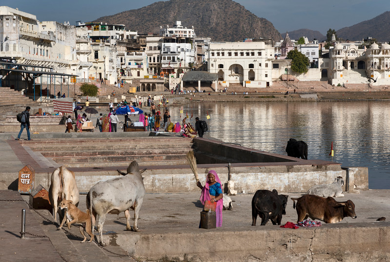 Pushkar at the lake