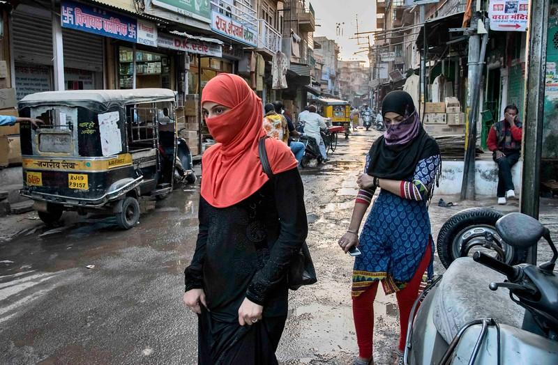 Jodpur street muslim girls