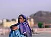 Blue Sari, Jahal Mahal, Jaipur