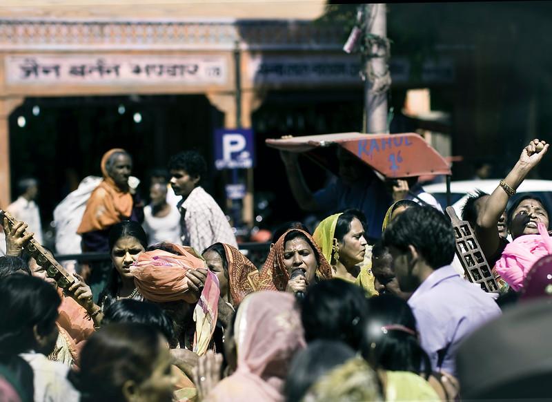 Singer and Musicians, Hindu Festival, Jaipur