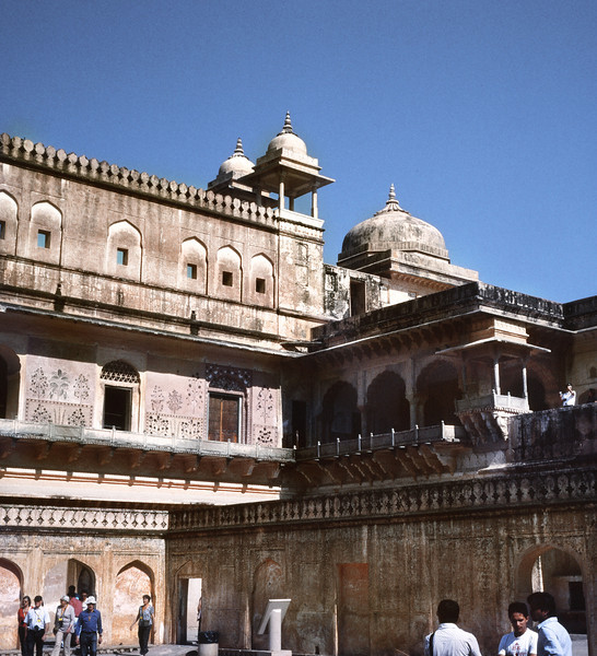 Courtyard, Amber Fort, Jaipur, India (Bronica 645)
