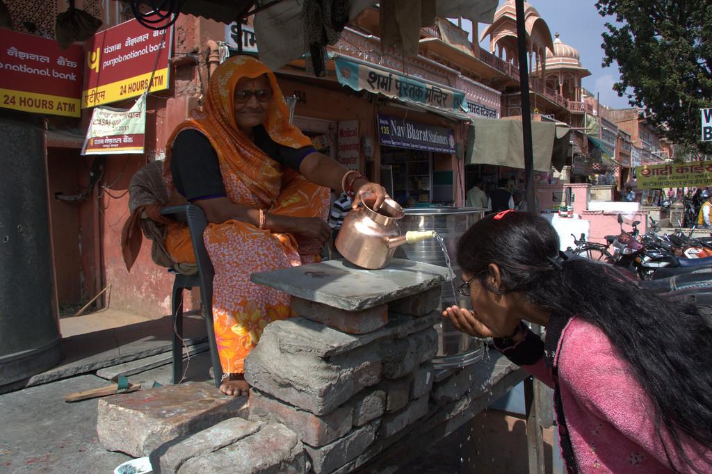 water vendor,  the Pink CityJaipur