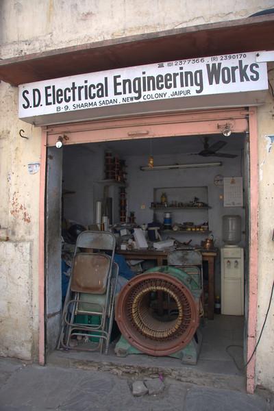 repairing a large electric motor.Jaipur