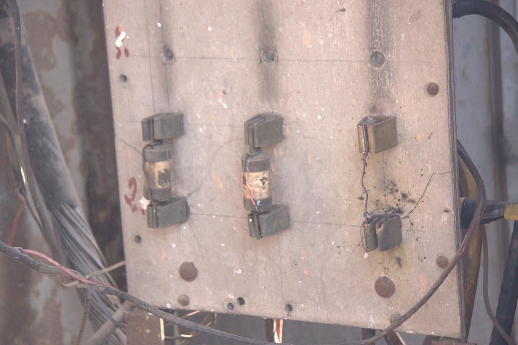 power distribution follows code... shops along the walls of  the Pink CityJaipur