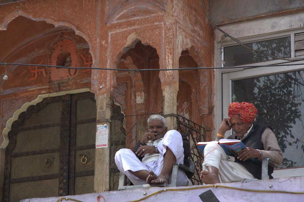 readers, inside of  the Pink CityJaipur