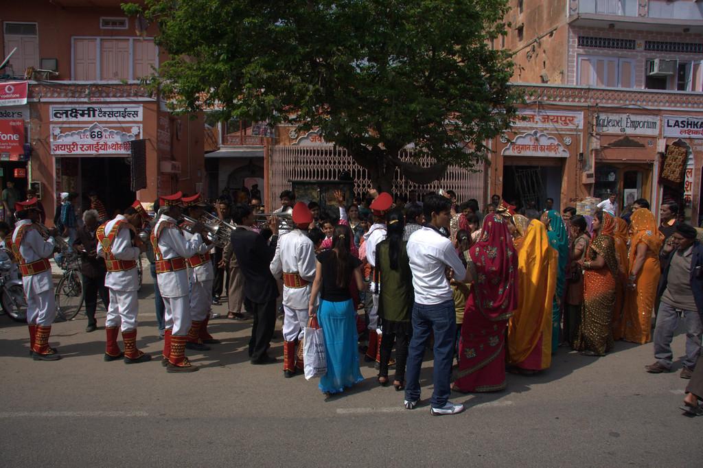 Wedding gathering, with the Band., Jaipur, the Pink CityJaipur