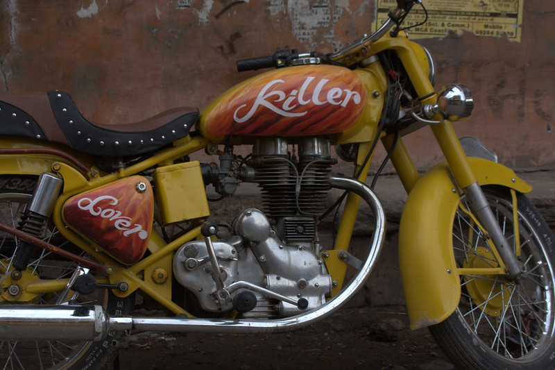 A very cool old Royal Enfield.