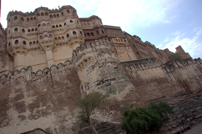 Mehrangarh Fort as you walk down the hill to the  garden area down below the Fort.