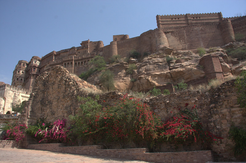 The spectacular Mehrangarh Fort (1459AD). Take time and visit the lovely restored garden area down below the Fort, it's really a nice spot, especially to take a relaxing rest during the heat of the early afternoon.