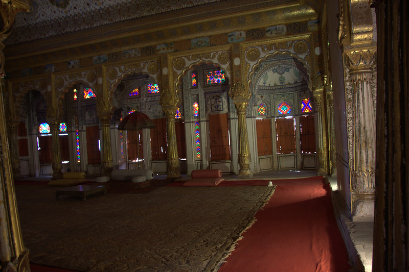 "The Maharaja's ""party room"" Mehrangarh Fort."