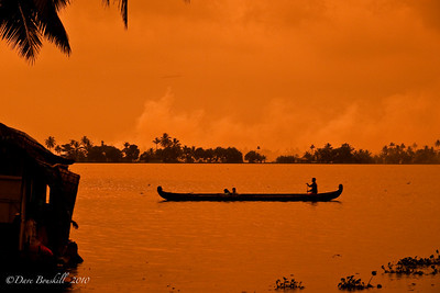 Sunset in Alleppey, Kerala, India