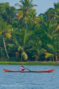 Paddling Alleppey in Kerala, India