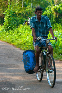 Cycling in Allepey, Kerala, India