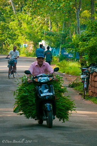 Motorbike in Allepey, Kerala, India