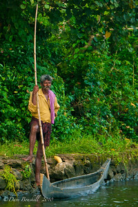 Fisherman in Alleppey, Kerala, India