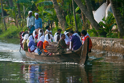 Water Taxi in the backwaters of Alleppey in Kerala. India