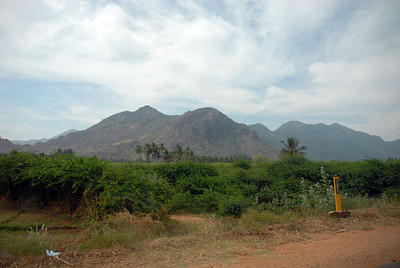 Along the highway between Madurai and Kumily. There is quite a bit of elevation gain between dry plateau's of Tamil Nadu and the Mountains that define the Keralan border.