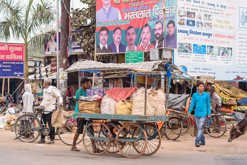 Pushing the Cart Through Traffic