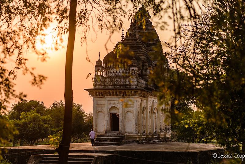 Sunset at Khajuraho Temples