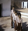 Five Boys, Schoolyard, Khajuraho, India (Bronica 645)