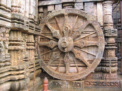 Wheel on Sun Temple of Konark