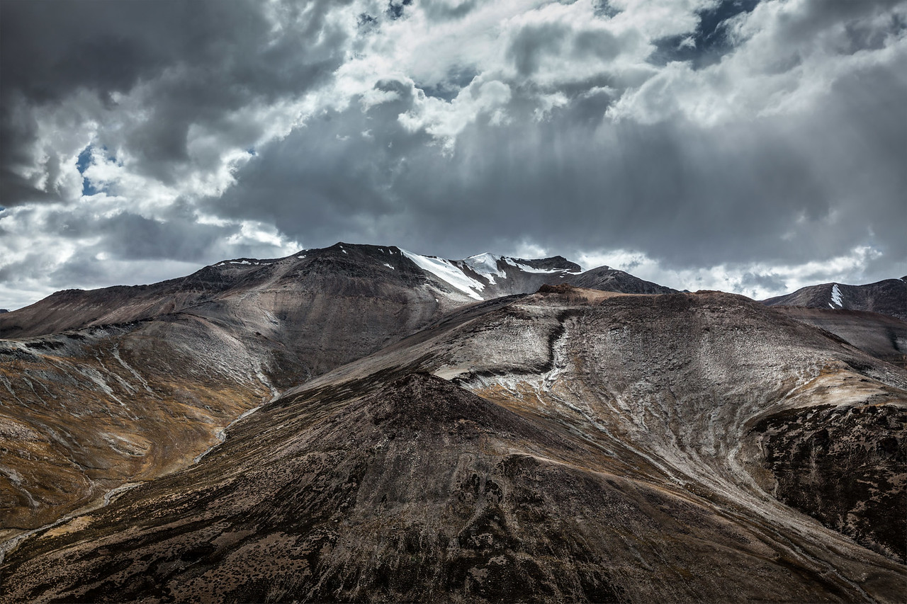 View of Himalayas near Tanglang la Pass, Ladakh