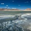 Salt lake Tso Kar in Himalayas. Ladakh, India